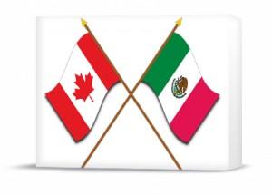 Canada & Mexico 3D